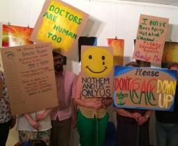 Protest placards